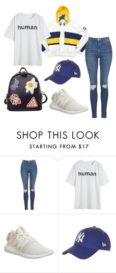"""""""Untitled #1222"""" by artiola-fejza ❤ liked on Polyvore featuring Topshop, adidas and WithChic"""