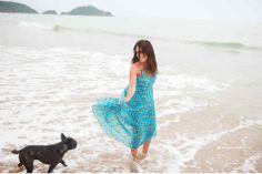 ensaio pet na praia