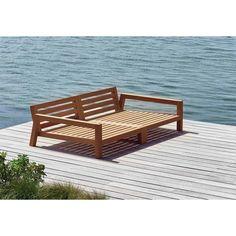 Diy Sofa, Diy Daybed, Sofa Furniture, Pallet Furniture, Furniture Design, Outdoor Furniture, Outdoor Sofa, Outdoor Living, Wooden Sofa Designs
