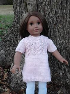 Ravelry: knitsally's Pink Cabled Sweater Dress
