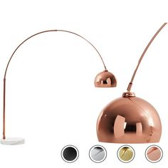 Bow Large Floor Lamp, Copper and White Marble from Made.com. Both contemporary and sophisticated, this eye-catching lamp fits right into any modern ..