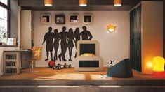 kreative Wandgestaltung Wandtattoo fürs Jugendzimmer