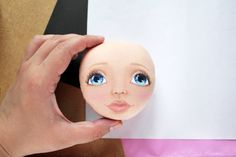 How to draw face Tutorial cloth doll pdf step by by AnnaBalyabina