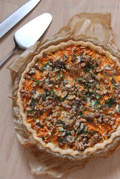 Quiche à la patate douce, Gorgonzola & noix