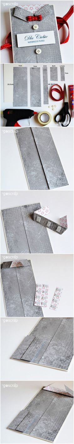 goscrap.plProsty kurs na kartkę-koszulę // An easy course on making shirt-cards » goscrap.pl #goscrap #scrapbooking #tutorial