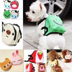 Cute Dog Bag Dog Backpack Carrier Harness Saddle Bag Leash Backpack for Pet Dog | eBay