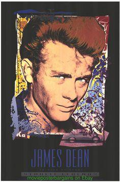 JAMES DEAN Original 24x36 GALLERY PRINT POSTER JIM EVANS ARTWORK 1993