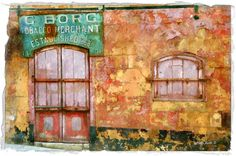 Old Storefront in Malta 11x17 on Etsy, $42.99