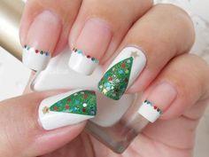Uñas Decoradas Árbol de Navidad + Paso a Paso - ε Diseños de Uñas Decoradas з