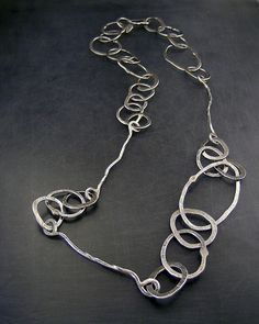 Forged and Hand-formed Sterling Silver Chain Link Necklace. via Etsy.