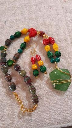 Walk good jamaica necklace/earring sets