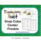 Looking for a fun new center for your kids? How about having them counting snap cube pictures!   Use these cards to have your students count out blocks to create the Thanksgiving Feast items! This set includes center cards, two recording forms, and Common Core objective pages to post at the center.
