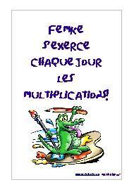 Tables de Multiplication - Exercices à imprimer gratuit.
