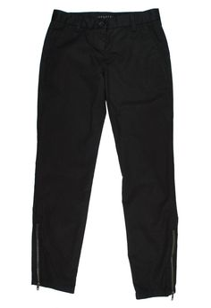 THEORY Size 00 Black Casual Ankle Zip Pants #Theory #CasualPants