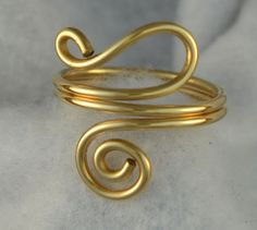 Adjustable ring 14K gold filled hand made size by Untwistedsister, $16.00