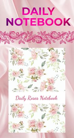 Daily Roses Notebook: 100 pages Gifts For Boss, Gifts For Girls, Gifts For Women, Buy Clothes Online, Planning Your Day, Romantic Roses, Floral Kimono, Pretty And Cute, Brides And Bridesmaids