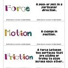 These flashcards can be used to help students remember vocabulary for force and motion.  These are a freebie from my Force
