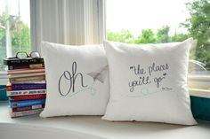 This playful pillow pair is an adorable way to encourage and inspire daydreamers everywhere! A perfect gift for anyone or a lovely way to decorate your