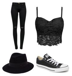 """""""What a walk in the park."""" by abigail-truenow on Polyvore featuring J Brand, Converse, Maison Michel, women's clothing, women, female, woman, misses and juniors"""