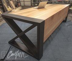 Log Furniture, Steel Furniture, Custom Furniture, Modern Furniture, Furniture Design, Rustic Industrial Decor, Industrial Furniture, Coffee Chairs, Metal Table Legs