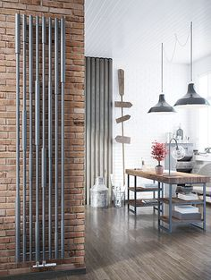DQ Heating Azimuth Metallic Black Vertical Designer Radiator - 1900 X Radiators Uk, Designer Radiator, Ral Colours, Designer Collection, Steel, Room, Metallic, Authenticity, Tube