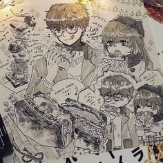 #inktober day 8! Apparently korean street toast is a thing, and they look so...delicious.....I'm drooling. .... I think both seven and mc will enjoy these so much wwww #mysticmessenger #lucielchoi #saeyoungchoi #707 #ink #marker