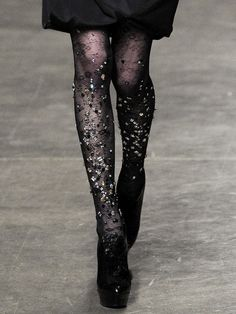 60893c42b17 Doo.Ri s bejeweled tights. The best use of sequins and sparkle I ve