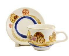 The golden village cup and saucer set, $22.00, catalog of St Elisabeth Convent…