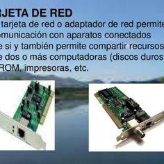 TARJETA DE RED Una tarjeta de red o adaptador de red permite la comunicación con aparatos conectados entre si y también permite compartir recursos entre dos. http://slidehot.com/resources/diapositiva-de-tarjeta.31776/