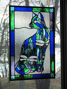 HARLEQUIN CAT - Delphi Stained Glass