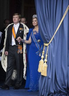Abdication of Queen Beatrix, at which point Willem-Alexander became king. They make a brief appearance on the balcony of the Royal Palace on the Dam square with wife Queen Maxima