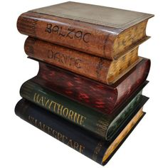Gallery 33 - Gump's - Stack of Books Occasional Table - Gump's ❤ liked on Polyvore featuring books, harry potter, backgrounds, hogwarts, home, filler, detail and embellishment