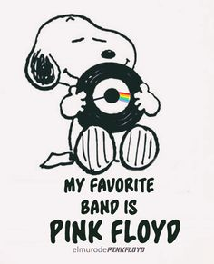 Snoopy loves Pink Floyd #PinkFloyd