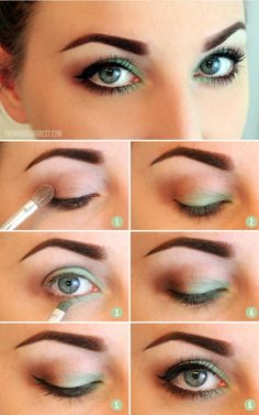 Great touch of green to the corners of the eye.