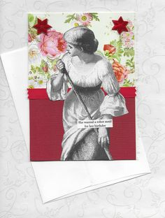 Red Pink Birthday Card for Exhausted Women Retro by rhodyart