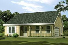 House Plan 1200 sq. ft. Changes would include no basement. Flip front of house to living room side. Make half of the garage into master sunroom, so we lose that hall altogether