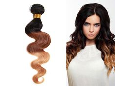 "Hot Selling US local Human Hair 16""Ombre BRAZILIAN Virgin Body Wave 50g/PC #WIGISS #HairExtension"