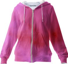 pink and red cloud art zip up hoodie / This Zipuphoodie is a custom Design Object, powered by PrintAllOver.Me