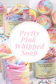 Unicorn, Whipped Soap, Whipped Body Butter, Shea Butter#pastel#Unicorn#ad #soapmakingbusinessetsy