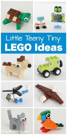 Teeny Tiny Mini LEGO Projects to Build - Frugal Fun For Boys and Girls