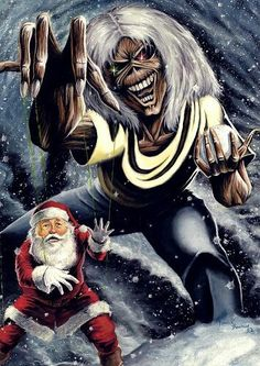 Iron Maiden is gonna get all of you! Rock Y Metal, Metal Fan, Bruce Dickinson, Heavy Metal Music, Heavy Metal Bands, Heavy Metal Christmas, Iron Maiden Posters, Iron Maiden Albums, Eddie The Head