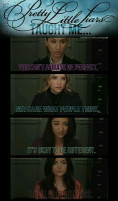 Find images and videos about text, pretty little liars and pll on We Heart It - the app to get lost in what you love. Pll Quotes, Pll Memes, Preety Little Liars, Pretty Little Liars Quotes, Best Tv Shows, Best Shows Ever, Favorite Tv Shows, Favorite Things, Freelee The Banana Girl