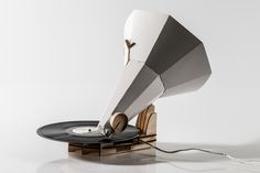Part steampunk, part Michel Gondry papercraft, we immediately fell for this fold-it-yourself gramophone. It's called the Jónófón after its creator, Jón Hólmgeirsson, a design student at the Iceland Academy of the Arts. Taking a cue from a Scandinavian company we won't name here, the Jónófón is assembled from a series of flat cutouts -- thin plywood for the base and thick paper for the horn, with a needle and a power source.