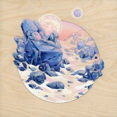 Nicole Gustafsson's painting series 'Celestial Spaces' depicts sci-fi levitating…