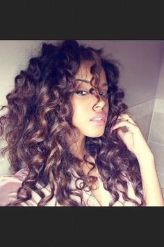 Hair Inspiration - Beautiful Curls and Great Color. #haircolor #curls eSalon.com
