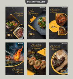 Steak restaurant flyer template or insta. Food Graphic Design, Food Menu Design, Food Poster Design, Poster Designs, Instagram Feed Layout, Instagram Design, Restaurant Flyer, Restaurant Advertising, Food Promotion