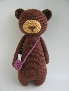 This is a pattern to make this lovely bear, including the bag!The pattern includes many pictures and detailed explanations. It's in PDF format and will be available for download immediately after purchase.It is available in: - EnglishThe bear in the picture is made with Stylecraft Special DK yarn on a 2.75 (size C) hook and turned out to be 25 cm tall (about 9.8 inches).Level: intermediateThe following stitches are used: Regular stitch, decrease stitch, increase stitchThe following methods…