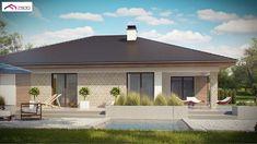 Gotowy projekt domu - Parterowy dom z garażem na 2 auta, wygodnymi sypialniami i dużym tarasem Planer, Gazebo, Outdoor Structures, Outdoor Decor, House, Home Decor, Home Plans, Projects, Floor Plans