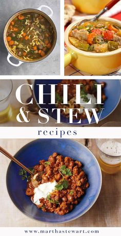 Chili & Stew Recipes | Martha Stewart Living - Twenty-six recipes for chili and stew, perfect for watching the big game.