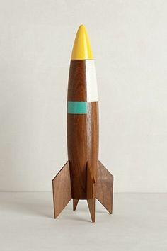 missile en bois, jouet bois contemporain